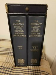1985 Compact Edition Of The Oxford English Dictionary 2 Volumes