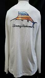 New Tommy Bahama Men#x27;s Embroidered Long Sleeve quot;Sunset Marlinquot; T Shirt S 3XL $29.99