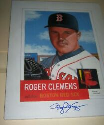 Red Sox Jsa Roger Clemens Signed 1953 Topps Painting Gerry Dvorak Autographed