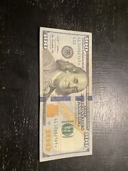 2009a Hundred Dollar Bill star Note In Good Circulated Condition