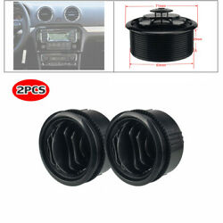 Universal 2x 63mm Round Air A/c Outlet Conditioning Vent For Rv Bus Boat Yacht