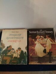 Lot Of 2 Norman Rockwell's America And The Norman Rockwell Treasury Books A2