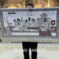 Yilong 2and039x3and039 Antique Home Tapestry Silk Carpet Ancient Area Rug 081h