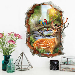 3D Wall Stickers Natural Landscape Black Tree Pattern Home Decorative Stickers