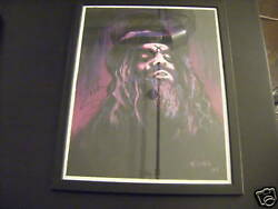 Rob Zombie Signed Painting Autographed House 1000 Corses Halloween White Zombie