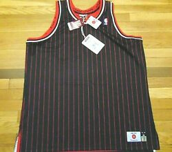 Just Don Mitchell And Ness Nba Hwc Chicago Bulls Black Striped Jersey Size Xl 400