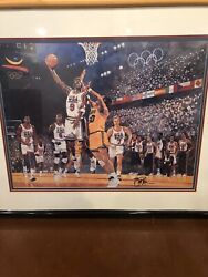 1992 Basketball Dream Team Michael Jordan Limited Signed By Bart Forbes Poster