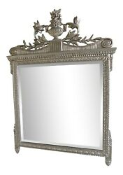 L34721 Friedman Brothers 6635 Silver Decorated Urn Top Mirror - New