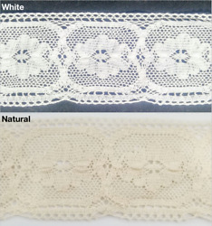 2 3 4quot; Cotton Cluny Lace Trimming 8 Continuous Yards MADE IN USA $18.00