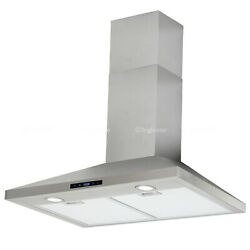 30 Range Hood Wall Mount Stainless Steel Kitchen Stove Vent Fan Touch Control