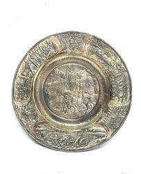Vintage Sterling Silver Passover Pesach Seder Plate Tray Exodus Story