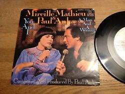 Mireille Mathieu And Paul Anka You And I West German 7 Single Ariola Records