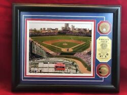 Chicago Cubs Wrigley Field Game Used Infield Dirt Photo 24k Gold Coin Mlb Ws15