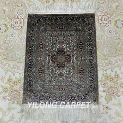 Yilong 1'x1.5' 1000L Hand knotted Rug Tapestry Antique Silk Best Carpet 006H