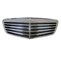 10-13 Mercedes S-class W/adaptive Cruise Front Face Bar Grill Grille Assembly