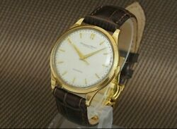 Old Inter 18k Gold Cursive Logo Cal.853 Automatic Vintage Watch 1960's