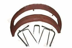 Front Rear Mudguard Set Raw Metal With Stays Fitting 1950s Bsa C11 C10 250cc
