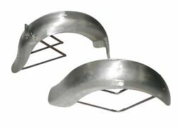 Rigid Frame Indian Chief Scout 101 Front Rear Mudguard Fender Set Raw Steel