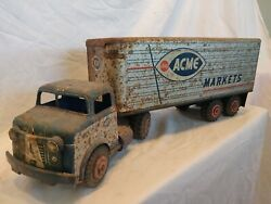 Rare Vintage1962 Marxlumar Acme Markets Grocery Store Tractor Trailer. Wow