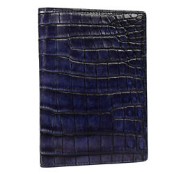 NEW ZILLI PASSPORT AND CREDIT CARD HOLDER 100% CROCODILE LEATHER ZBAU3