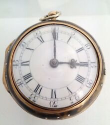 Gold And Under Painted Holmes Of London Verge Pair Case Pocket Watch 1762