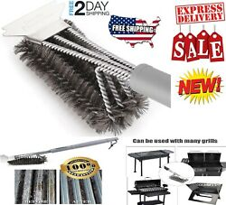 18 Bbq Grill Brush Free Bristle Barbecue Stainless Steel Cleaning Scraper Rust
