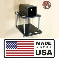 [sr] Bumper Receiver Adapter Mount On Rv Travel Trailer Carrier Hitch Usa