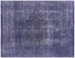Hand-knotted Overdyed Wool Rug 9and039 10 X 12and039 8 - Q4738