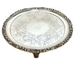 Jones, Ball, And Poor Boston Coin Silver Round Footed Tray, Circa 1850