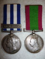 72nd Foot, Seaforth Highlanders Egypt, Suakin And Afghanistan Medal Pair To Tuskin