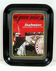 Budweiser Beer Tray Clydesdale Wagon And Dalmatian Unused Beer Distributors Stock