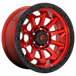 Fuel 20x10 D695 Covert Wheel Candy Red Black 8x170 Pcd -18mm Offset 4.79bs