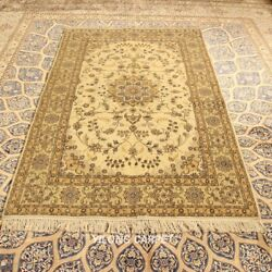 Clearance Yilong 4and039x6and039 Handmade Wool Area Rug Thick Woolen Bedroom Carpets 2073