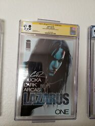Lazarus 1 Cgc 9.8 2x Ss Image Comics Signed By Rucka And Lark