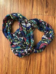 infinity scarf lightweight Aztec Design Blue Green And Yellow $8.99