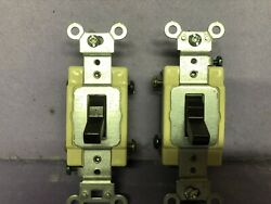 7 Leviton Brown 4-way Commercial Grade Toggle Switch Bulk Cs415-2
