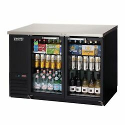 Everest Ebb48g-24 49 Two Section Back Bar Cooler With Glass Door 13.0 Cu. Ft.
