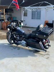 Midnight Blue King Tour Pak Pack For Harley Street Road Electra Glide 97+