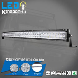 Curved 52 Inch Led Light Bar 900w 9d Combo Offroad Suv Tractor Atv Driving 54