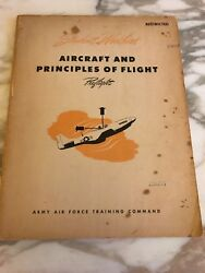 Student Workbook Aircraft Principles Of Flight Army Air Force Training 1944