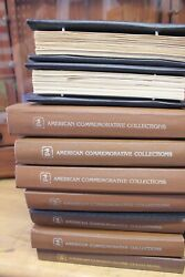 Lot Of 1980s American Commemorative Collections Albums First Day Stamps And Sheets