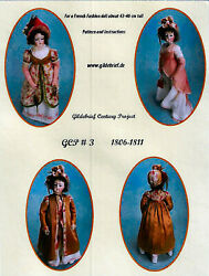 Gildebrief Century Project 3 French Fashion Doll Pattern 1806-1811