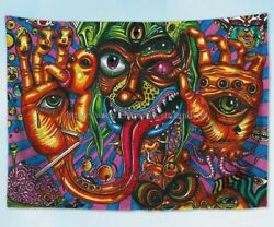 trippy psychedelic tapestry cloth poster modern home accent wall decor