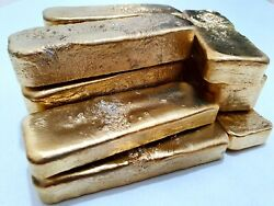 800 Grams Scrap Gold Bar For Gold Recovery Melted Different Computer Coin Pins