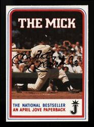 1986 Book Signing The Mick Mickey Mantle Perfectly Autographed Baseball Card