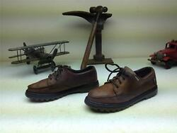 Brown Distressed Leather Eastland Lace Up Shoes Size 8 M