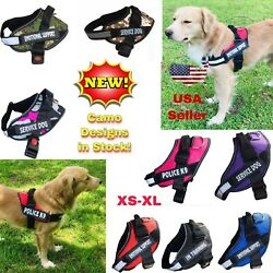 Dog Puppy Harness Vest Patches Reflective ESA No Choke No Pull PTSD Adjustable