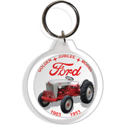 Ford Jubilee Redbelly Red Belly Antique Farm Garden Tractor Collectible Keyring