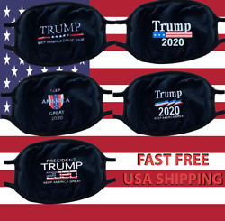 Trump 5 pcs Face  Mask Five Styles  Black Adult Size FAST FREE USA SHIPPING 2020 $15.99