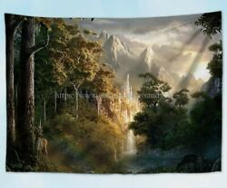 dorm room tapestry fantasy forest landscape tapestry cloth poster
